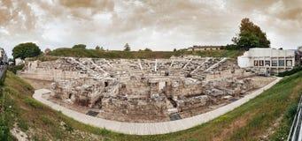 Den första forntida teatern i den Larissa staden royaltyfria foton