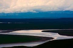 Den första jätte- uen-turn av den gula floden Arkivfoto