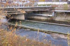 Den första kanalen i Ural Demidov den metallurgical växten i Verkhnaya Salda, Sverdlovsk region Royaltyfri Bild