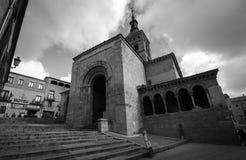 Den första kyrkan som byggs i Segovia, Spanien arkivfoto