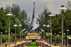 Den första Putrajaya gränsmärket i Malaysia Royaltyfri Bild