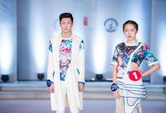 Den första serien av Shang Gu-Fashion Show Royaltyfri Foto