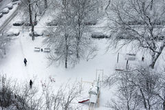 Den första snowen Royaltyfri Bild