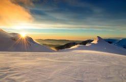 Den första soluppgången för det nya året arkivbilder