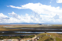 Den första vänden av Yangtze River Fotografering för Bildbyråer