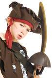den förtjusande pojkedräkten piratkopierar Royaltyfri Fotografi