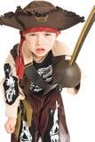den förtjusande pojkedräkten piratkopierar Arkivfoto