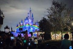 Den förtrollade sagobokslotten på Shanghai Disneyland, Kina arkivfoto