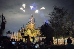 Den förtrollade sagobokslotten på Shanghai Disneyland, Kina arkivbild