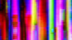 Den förvridna oväsenregnbågen fodrar Digital abstrakt bakgrund Arkivbild
