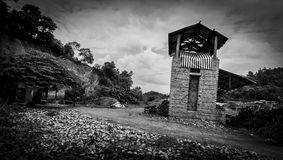 Den fabriks- brännugnen för gammal tegelsten Arkivbild