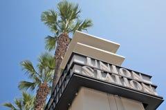 Den fackliga stationen undertecknar in LA arkivfoto
