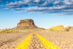 Den Fajada butten i nationellt historiskt för Chaco kultur parkerar, NM, USA Royaltyfria Foton