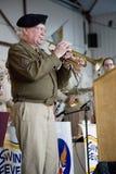 Den faktiska trumpetaren från världen kriger II Arkivfoton