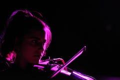 Den Fanfarlo musikbandet utför på Apolo Royaltyfria Foton
