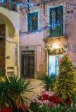 Den fantastiska för Artista för `-Luci D ` konstnären ` tänder i Salerno under jultid, Campania, Italien Royaltyfri Bild