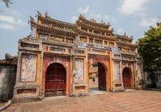 Den fantastiska gamla staden av tonen, Vietnam arkivfoto
