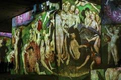 Den fantastiska och underbara världen av Bosch, Brueghel och Arcimboldo Arkivfoton