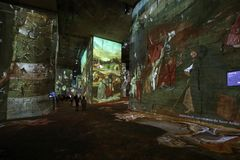 Den fantastiska och underbara världen av Bosch, Brueghel och Arcimboldo Arkivbilder