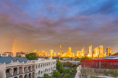 Den fantastiska sikten från potts för ett tak pekar Sydney Australia Royaltyfria Foton