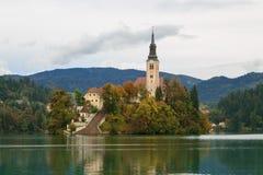 Den fantastiska slotten blödde sjön Arkivbilder