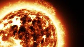 Den fantastiska solnärbilden framför Arkivbilder