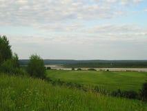 Den fantastiskt härliga naturen av den ryska norden Arkivfoto