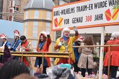 Den Fasching karnevalet ståtar den Karlsruhe Tyskland Arkivbild