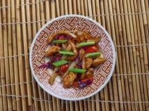 Den fega och kinesiska grönsaken steker under omrörning Royaltyfri Fotografi