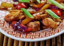 Den fega och kinesiska grönsaken steker under omrörning Royaltyfri Foto