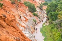 Den felika strömmen, Mui ne, Vietnam Arkivfoton
