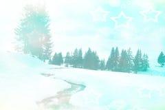 Den felika vintern landskap Arkivfoto