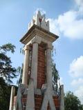 Den figurerade brobeståndsdelen i Tsaritsyno parkerar Arkivbilder