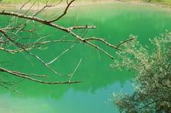 Den filial av sjön av Salto i Abruzzo, Italien Royaltyfri Foto