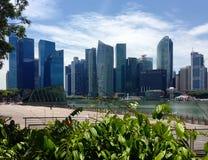Den finansiella mitten singapore Royaltyfri Bild