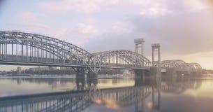 Den finlandssvenska järnvägsbron Fotografering för Bildbyråer