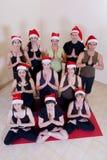 den fira julen class yoga arkivbilder