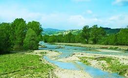 Den Fiume Tarofloden Fotografering för Bildbyråer