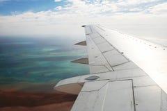 In den Flugzeugen Stockfoto