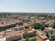 den flyg- colosseumforakullen inkluderar den roman rome för den italy palatinen sikten Taget från Vaticanet City arkivfoton