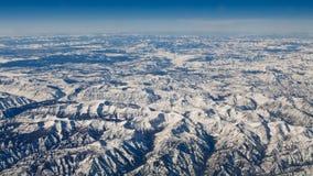 den flyg- nationalparken USA visar yellowstone Arkivfoton