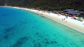 Den flyg- sikten av den Forno stranden, Arraial gör Cabo lager videofilmer