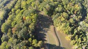 Den flyg- sikten av ovalen formade kullen av den stora Serpernt kullen, Ohio royaltyfria foton
