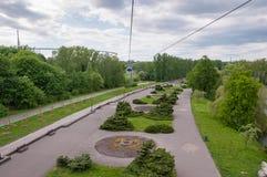 Den flyg- sikten av Silesia parkerar i Chorzow Arkivbild