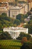 Den flyg- sikten för Vita Huset i Washington, DC Arkivbilder