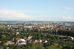 Den allmänna stadsantennen beskådar av Oradea Arkivbilder