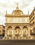 Den Fontana dell'Acquaen Felice i Rome Arkivfoton