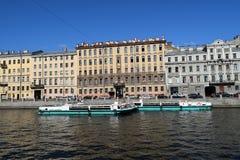 den Fontanka flodinvallningen Royaltyfri Foto
