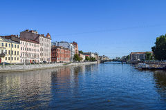 Den Fontanka flodinvallningen i StPetersburg Fotografering för Bildbyråer