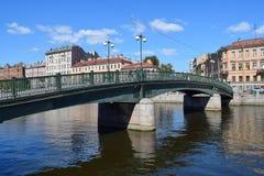 Den Fontanka flodinvallningen i StPetersburg Arkivbilder